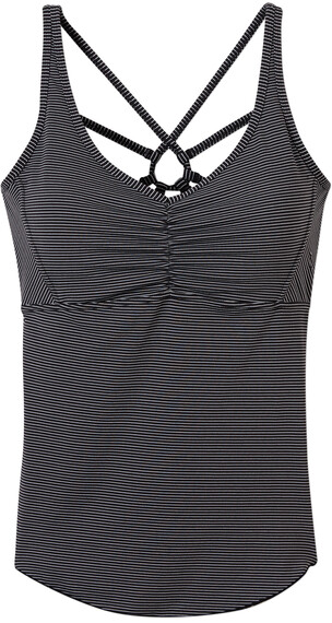 Prana W's Dreaming Top Black Pinstripe